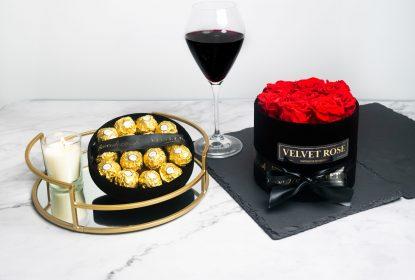 rose in a box