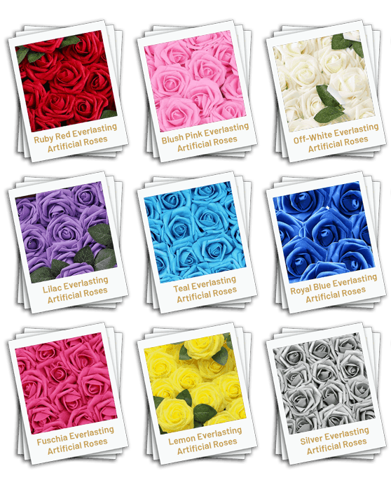 Artificial Rose Colours