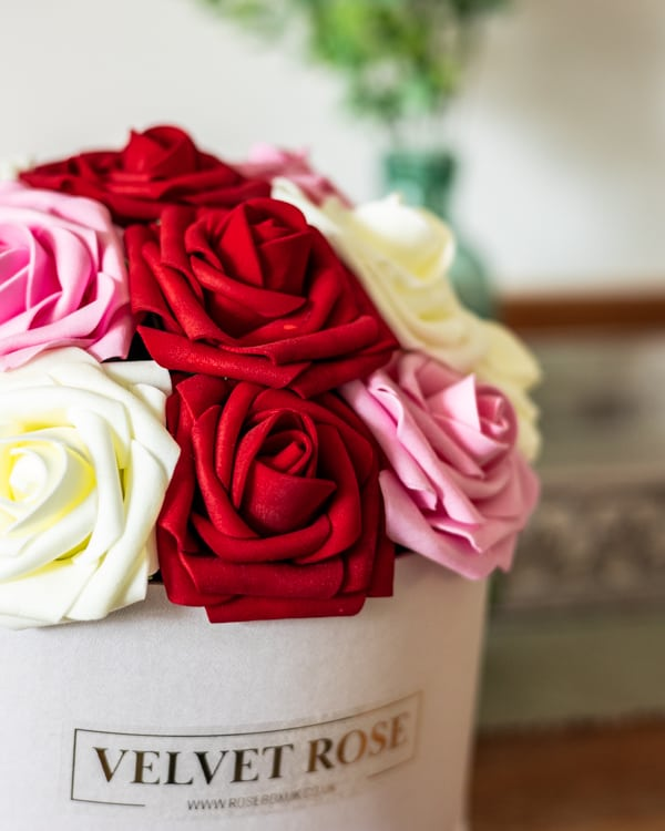 Everlasting Artificial Roses Gift Box