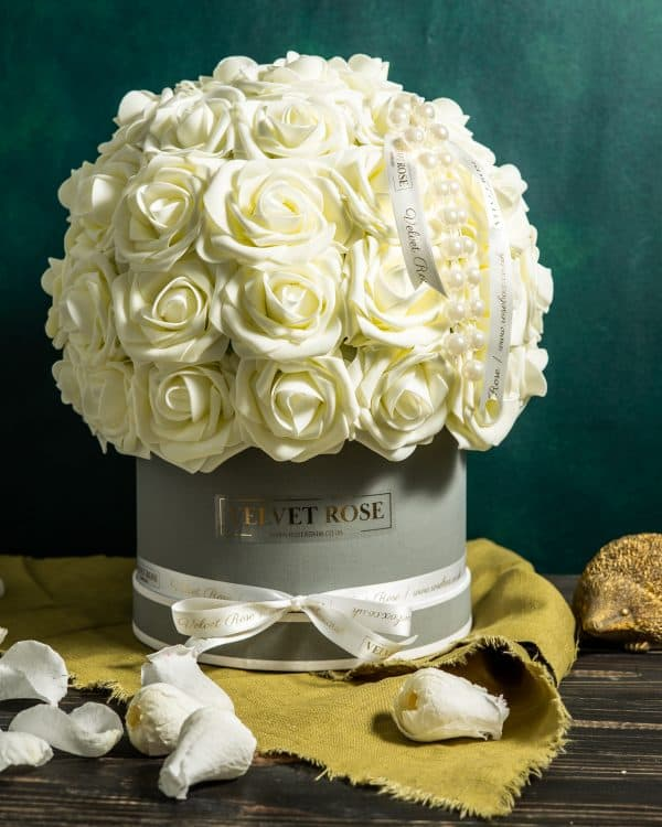 Bubble Of Everlasting Artificial Roses Gift Box
