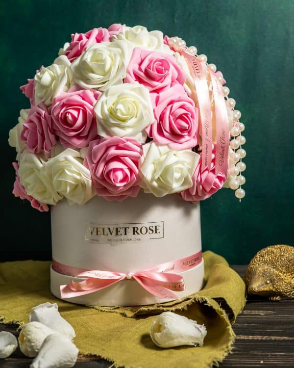 Multi-Colour Dome Of Everlasting Artificial Roses Gift Box